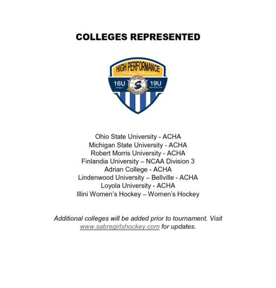 HPC Colleges Attending Website