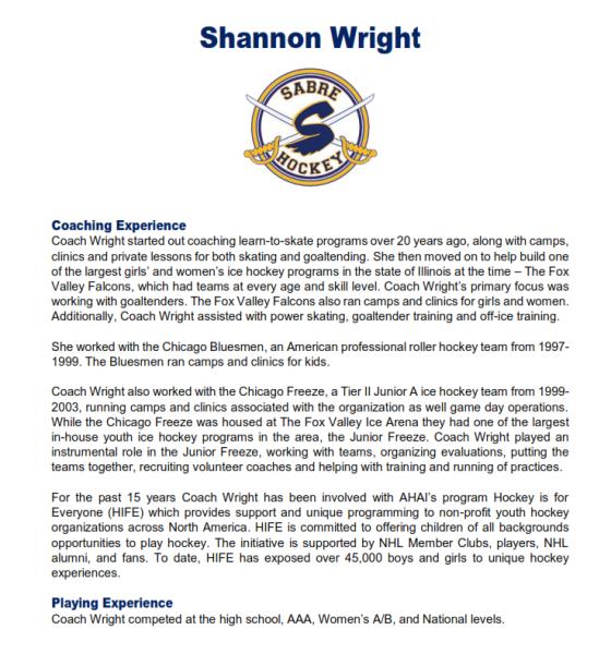 Shannon Wright Bio