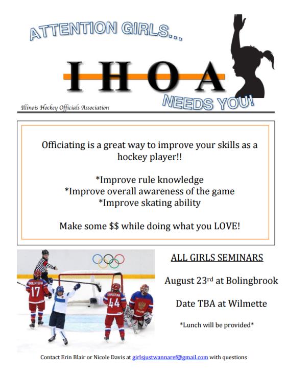 IHOA Girls Officiating Seminars