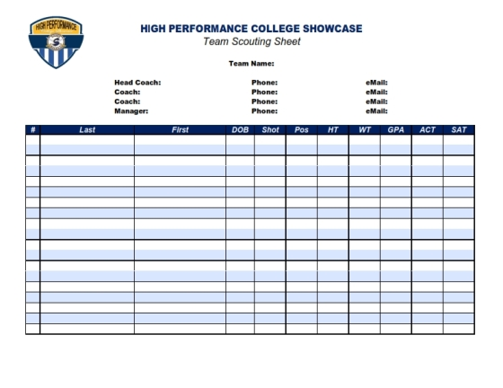 HIGH PERFORMANCE COLLEGE SHOWCASE Team Scouting Form_001